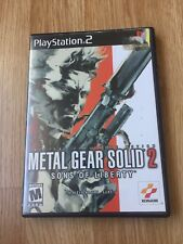 Metal Gear Solid 2 Sons Liberty PS2 Sony PlayStation 2 Game XP1