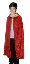 Children Red-Golden Velvet cape Cloak Coat King Fancy Dress Costumes