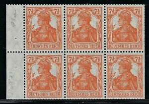 "GERMANY 1916 ""GERMANIA""  Booklet Pane  Broschurenfenster:  H-Blatt #11   Mint/NH"