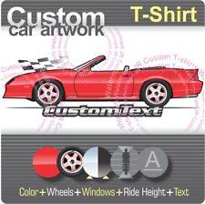 Custom T-shirt 91 1991 1992 25th Chevrolet Chevy camaro Z/28 Z28 RS Convertible