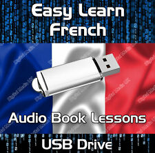 EASY LEARN FRENCH LANGUAGE LESSON MP3 AUDIO BOOK USB DRIVE, BEGINNER + ADVANCED