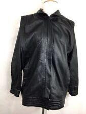 Vintage Yves Saint Laurent Black Leather Jacket Unisex Women Men