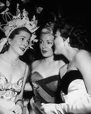 JOAN FONTAINE, LANA TURNER & AVA GARDNER @ 1951 RIBBON BALL  8X10 PHOTO (ZZ-257)