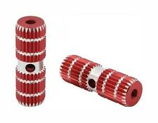 """BMX BIKE FOOT PEG PEGS 3/8"""" 3/8 AXLE 24T OR 26T RED 3"""" long"""