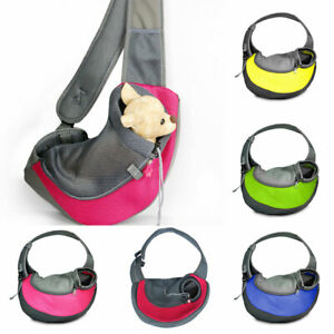 Pet Puppy Dog Mesh Sling Carry Pack Backpacks Carrier Travel Tote Shoulder Bags