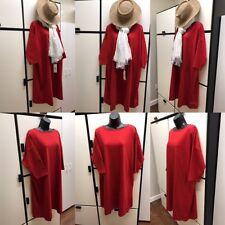 nest Robe Japan OS Cotton Red Bateau Neck Elbow Sleeve Kimono Dress