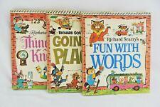 Lot of 3 Vintage Richard Scarry Books 1971