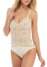 NEW Calvin Klein MD Endless Sheer Bridal Lace Bodysuit QF1790 Ivory #69810