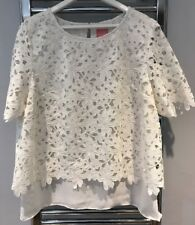 Joules Mia Cream Top Lace Size 18