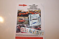 Decals 1/43 Ford Focus WRC Solberg Rally Mounted Carlo 2008 Rally Monte Carlo