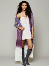 149687 NWD Free People FP One Dip Dye Lace Robe Floral Wrap Coverup Dress XS