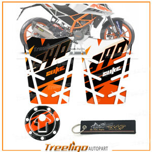 Fuel Tank Pad Cover Decorative Sticker With Keychain FOR KTM DUKE 390 2014-2018
