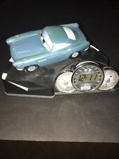 Disney Pixar Cars 2 Animated Alarm Clock-Speech/Sound Effects-LCD-Finn McMissile