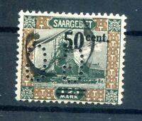 Saar Firmenlochung Perfin Gg On 78 Postmarked Luxury Letter Piece (H7858