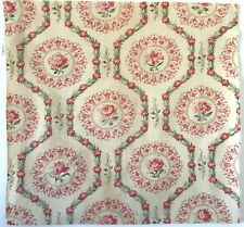 Beautiful Rare 19th C. French Printed Cotton Floral Fabric (3009)