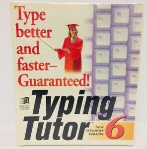 "Vintage Computer Typing Tutor 6 3.5"" Floppy Windows Microsoft Sealed Big Box"
