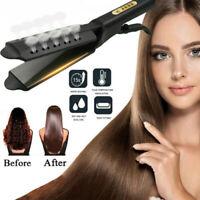 Four Gear Ceramic Flat Iron Hair Straightener Tourmaline Ionic Salon Glider Hot