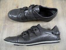 KENNEL&SCHMENGER stylische Leder Sneakers m. Schnallen grau Gr. 41 TOP BI1217