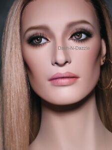 Female mannequin Wig bust with HAZEL glass eyes!