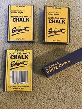 """4 Packs 12 Sticks Radiant Bright Dustless White Chalk By Sargent Art 48 3 1/4"""""""