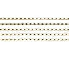 14K Yellow Gold Solid Box Chain .7mm wide 16 inch - Spring Ring Clasp - 100% 14K
