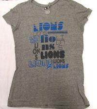 Nfl Team Apparel Detriot Lions Team Logo Adult Women's T-Shirt 2Xl Tee New