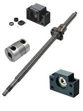 1 anti backlash 16mm ballscrew RM1605-750mm-C7+BK/BF12 end support bearing CNC