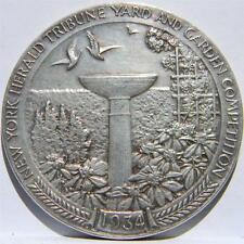 USA-rare 1934 New York Herald Tribune Yard & Garden Competition silver medal; AU