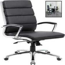 Boss Office Products Caressoftplus Executive Chair Traditional Metal Chrome Fini