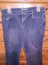 Size 18 Goddess Glitter Shimmer Blue Bootcut Jeans