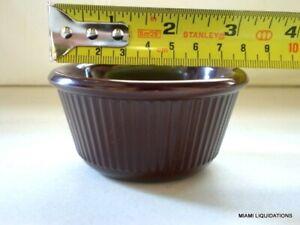 Lot of 48 3oz fluted Ramekin Carlisle S28269 melamine Chocolate brown