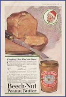 Vintage 1918 BEECH-NUT Peanut Butter Kitchen Art Decor Ephemera Print Ad 1910's