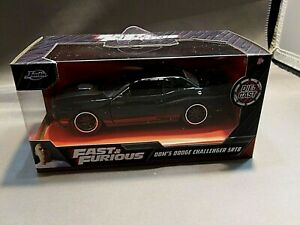 FAST & FURIOUS DOM'S DODGE CHALLENGER SRT 8 1/32 SCALE JADA NEW SEALED MUST SEE