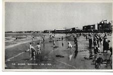 Burnham-on-Sea.Sea.The Sands-Orig Old RPPC -(Pub:Salmon Series)- VGC !