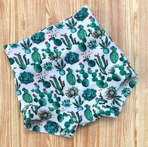 Cactus High Waisted Baby Bummie/Bummies/Shorts/Shorties/Bloomers/Diaper Cover