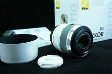 White Nikon 1 Nikkor 30-110mm F/3.8-5.6 VR Telephoto Zoom Lens FULL SET