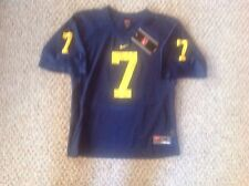 Michigan Wolverines TEAM NIKE #7 Football Jersey YOUTH MEDIUM New With Tags.