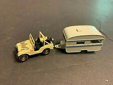 ROCO Golden Eagle Jeep CJ w/ Wiking Camper HO 1/87 Scale Miniature Model Car