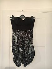 Lipsy Black Strapless Skater Dress Size 8 BNWOT