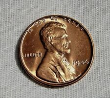 BU 1946 P LINCOLN WHEAT CENT BEAUTIFUL RED BRILLIANT UNCIRCULATED