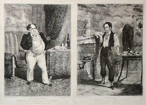 Antique Political Prints John Zeitter After Henry Alken. A Tax Receiver / Payer