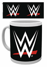 WWE WRESTLING LOGO MUG NEW GIFT BOXED 100% OFFICIAL MERCHANDISE