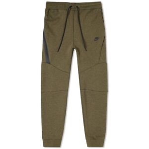 Nike Tech Olive Green Fleece Tappered Leg Jogger Pants, Mens Size Large