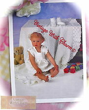 Simple Crochet Pattern Baby Girls Dress, Hat, Shawl etc.  Just £2.69 + FREE P&P!