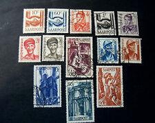 "GERMANIA,Germany Post Reich SARRE SAAR 1948 ""Fr.in pf.Nuovi tipi""13V cpl  MH/US"
