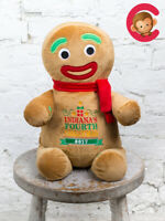 Personalised Embroidered Christmas Gingerbread Man Cubbies Teddy Gift