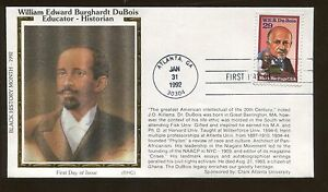 Soie Cachet William Edward Burghardt Dubois 1992 FDC Atlanta US Tampon #2617