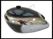 Matchless Chrome And Black Painted Steel Gas Fuel Petrol Tank