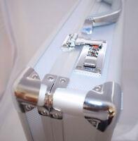 New Hard Aluminium Briefcase Executive Laptop Bag Travel Flight Pilot Carrycase