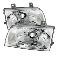 Fit Kia 98-02 Sportage Chrome Housing Replacement Headlights Left & Right Set